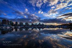 Vancouver sunset by AlexLDX