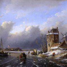 Andreas Schelfhout - Winterlandschap