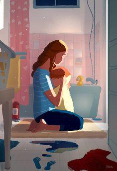 Bath time conversations. by PascalCampion.deviantart.com on @DeviantArt