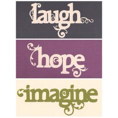 Word Decal Set  3 Decals Included  Laugh Hope by SpecialCuts, $15.00