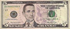 Popular celebrities in us dollar bill