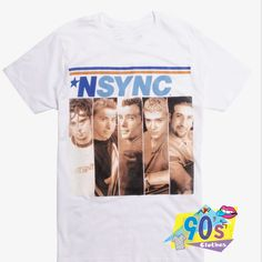 Nsync Album Cover Justin Timberlake T Shirt to wear every day in any situation to be always fashionable. With this T-shirt design will make you more retro-style. 90s Shirts, Tour T Shirts, Justin Timberlake Nsync, Retro Fashion, 90s Fashion, Contemporary Fashion, Shirt Sale, Album Covers