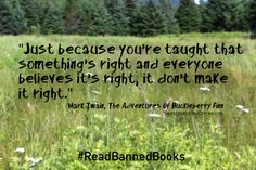 Mark Twain Huckleberry Finn quote  #BannedBooksWeek