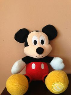 "DISNEY STORE EXCLUSIVE 11"" PLUSH ROLY MICKEY MOUSE STUFFED DOLL ANIAML TOY"