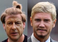 Arsene Wenger and Nicklas Bendtner in face swap. Nicklas Bendtner, Arsenal Goal, Arsene Wenger, Face Swaps, Sport Football, Sports Humor, Funny Moments, Victorious, In This Moment