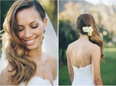Wedding Hairstyles: Glamourous Side Swept Waves. If I went down. We basically tried this before crystal!