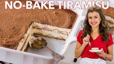 Tiramisu is a classic Italian no-bake dessert made with layers of ladyfingers and mascarpone custard cream (no raw eggs! Truly the best homemade tiramisu. Summer Desserts, No Bake Desserts, Just Desserts, Delicious Desserts, Dessert Recipes, Cake Recipes, Picnic Desserts, Best Tiramisu Recipe, Homemade Tiramisu