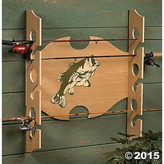 Fishing pole rack - inspiration only