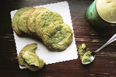 everything is poetry: matcha white chocolate cookies