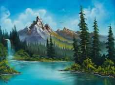 Mountain Waterfall print