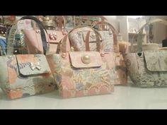 Pretty paper handbags using 12x12 paper - YouTube