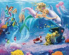 Mermaids Wall Mural