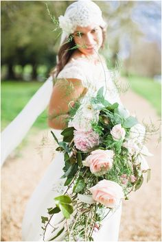 Oversize wedding bouquet  | Image by Cat Hepple Photography, see more at http://www.frenchweddingstyle.com/elegant-bohemian-wedding/