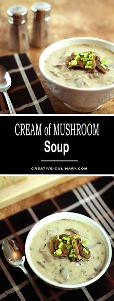 This Cream of Mushroom Soup with White Wine and Leeks is easy, delicious and so good I promise you'll never want the canned version again! via @creativculinary