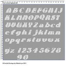 Filet Crochet Alphabet 4
