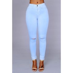 Canopy Jeans Baby Blue ($15) ❤ liked on Polyvore featuring jeans, bottoms and pants