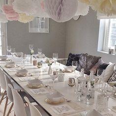 Reposter dette festbordet som et alternativt nyttårsbord for @vakrerom #vakrerom_borddekking gå inn å se på de fiiine borddekkingene! Her er det masse inspirasjon å hente ✨