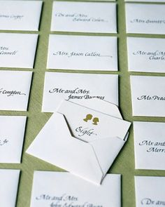 Wedding Details: Escort Cards and Place Cards