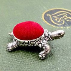 Vintage Ari D Norman Mini Turtle Pin Cushion #pincushion #sewingcollectables #sterlingsilver #gotvintage