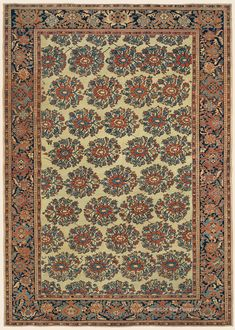 "FERAHAN, 7' 0"" x 10' 0"" — 3rd Quarter, 19th Century, West Central Persian Antique Rug - Claremont Rug Company"