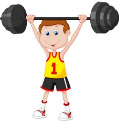 Illustration about Illustration of Cartoon man lifting barbell. Illustration of perfect, athlete, barbell - 39806234 Cartoon Man, Cartoon People, Cartoon Pics, School Clipart, Kid Rock, Stick Figures, Creative Teaching, Young Boys, Barbell