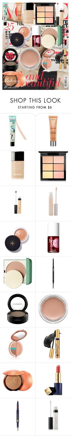 """Makeup: Kate Winslet"" by oroartye-1 on Polyvore featuring beauty, Benefit, L'Oréal Paris, Chanel, MAC Cosmetics, Maybelline, 100% Pure, Clinique, Anastasia Beverly Hills and Estée Lauder"