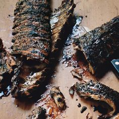 Sticky Balsamic Ribs, and other rib recipes. Ribs On Grill, Pork Ribs, Pork Chops, Rib Recipes, Cooking Recipes, Dinner Recipes, Yummy Recipes, Pork Dishes, Food Menu