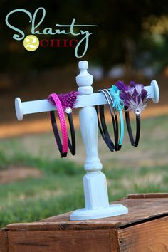 DIY Headband Holder - I need to make one or two of these for my Farmer's Markets when I sell my headbands!