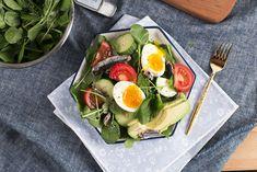 Soft Boiled Egg, Avocado and Sardine Salad