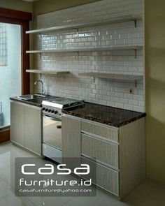 Kitchen set Pondok Aren Tv Wall Decor, Room Decor, Kitchen Interior, Kitchen Decor, Luxury Decor, Kitchen Sets, Interior Architecture, Kitchen Cabinets, House Design