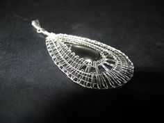 Perfect mothers day gift: wire crochet pendant, pearls in a pod ...