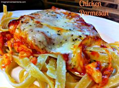 Cheesy Chicken Parmesan - Fast, Easy, and Very Cheesy.