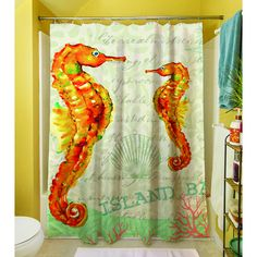 Thumbprintz Salty Air Seahorse Shower Curtain - Overstock Shopping - Great Deals on Shower Curtains