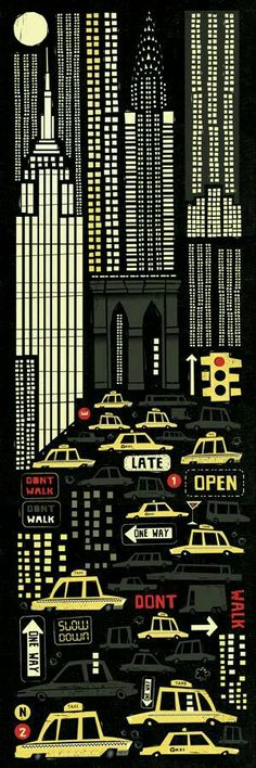 New York. Illustration by Peter Donnelly.