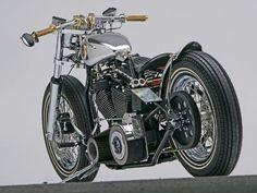 Chromed Harley custom bobber | Bobber Inspiration | Bobbers & Custom Motorcycles