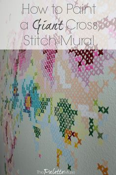 Cross Stitch Design Cross Stitch Floral Map Mural - My studio is finally finished, with the addition of this colorful mural of a cross stitch map of the world in flowers. Here's how to make your own! Cross Stitch Art, Cross Stitch Flowers, Modern Cross Stitch, Cross Stitch Designs, Cross Stitching, Cross Stitch Embroidery, Embroidery Patterns, Cross Stitch Patterns, Hand Embroidery