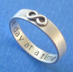 Custom Stamped Infinity Ring. $50.00, via Etsy.