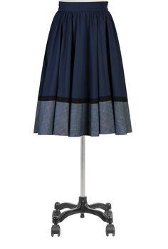 eShakti Women's Banded trim full circle skirt