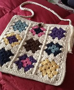 Granny Square Purse by DawnsCrochet on Etsy, $85.00