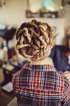 dreadlock updo... Can not wait for my dreads to get longer to do this!  So cool!