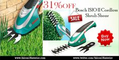 Give a beautiful look to your garden and trim your plants according to your choice with the help of Bosch Cordless Shrub Shear.  This is very convenient as easy to handle!   Order now:- http://www.falcon18interior.com/Bosch-ISIO-II-Cordless-Shrub-Shear.htm?1036742/BM34087111