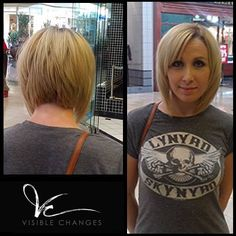 Graduated bob! It's always in and always gorgeous. We particularly love this fresh look by Richard! #VisibleChanges #TexasSalon