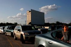 Jason Rodriguez, 4, waits in line at the Mission Drive-In on Aug. 24, 2007. The drive-in reopened after being vandalized earlier this year. The movie theater opened in March 1948 and is a South Side landmark.