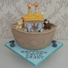 Noahs Ark Cake for  a Christening from www.cakesbykit.co.uk