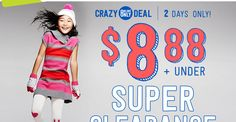 Crazy 8 Super Clearance: $8.88 and Under! | Closet of Free | Get FREE Samples by Mail | Free Stuff