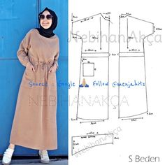 - Moda dikiş giyim aksesuar tasarım tesettür diy kombin hijab fashion anne bebe… Fashion Sewing Clothing Accessory Design Hijab DIY Combination Hijab Fashion Mother B Costura Fashion, Fashion Moda, Fashion Sewing, Diy Fashion, Abaya Fashion, Muslim Fashion, Fashion Dresses, Dress Sewing Patterns, Clothing Patterns