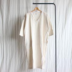 V Neck Dress #natural/silk