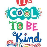 It's cool to be kind poster