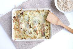 Gesunde Clean Eating Rezepte: Lachs-Spitzkohl-Auflauf mit Skyr