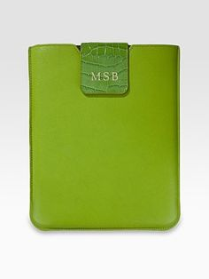 Graphic Image - Personalized Leather Sleeve for iPad - Saks.com